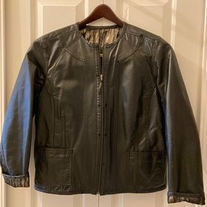 CHICO'S Reversible Leather Jacket